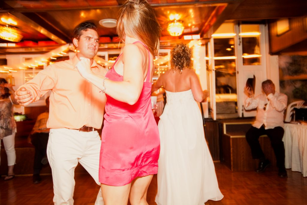 When Vicki S. held her wedding and reception aboard the Lady of the Lake, everyone danced all night.