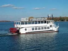 view of starboard side of Lady of the Lake on Lake Minnetonka