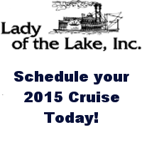 Plan your 2015 Cruises with Captain Terry Jungers for every Tuesday, Thursday & Sunday at 12:30 to 2:30pm.