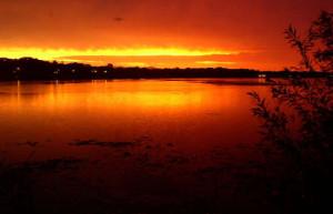A beautiful sunset on Lake Minnetonka