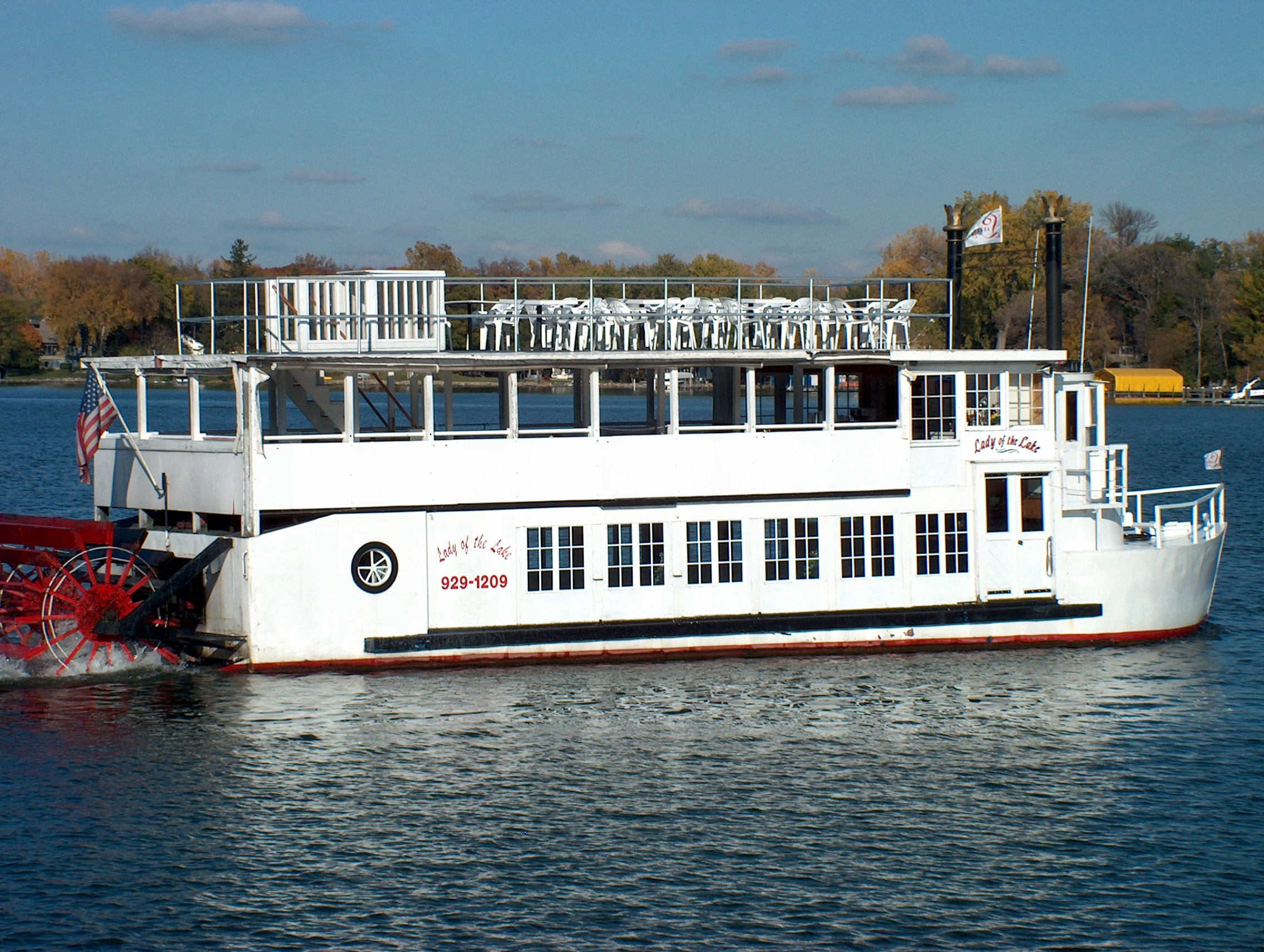 The Lady of the Lake leaves her port of Excelsior Minnesota
