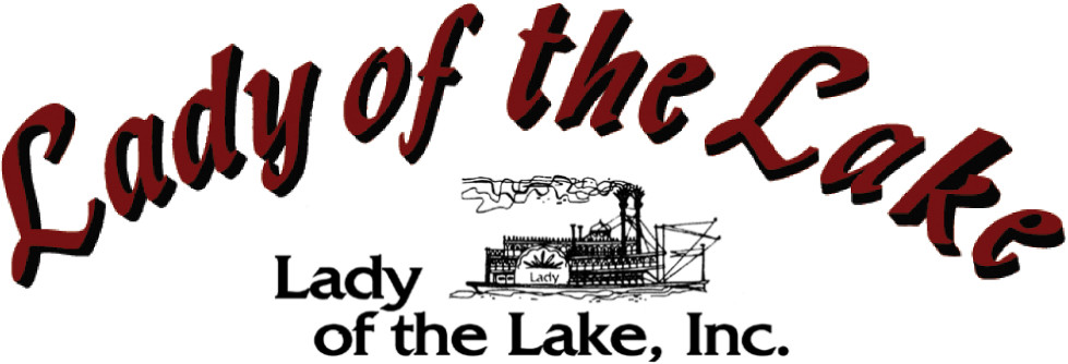 Lady of the Lake logo, Public Cruises and Private Charters on Lake Minnetonka