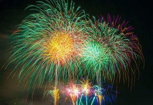 fireworks over lake - Kohji Asakawa