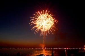 Lake Minnetonka Fireworks by Peter Rieke