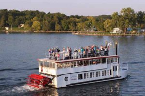 Lady of the Lake for you next event. Plan a cruise and charter the Lady of the Lake.