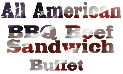 all american bbq sandwich buffet