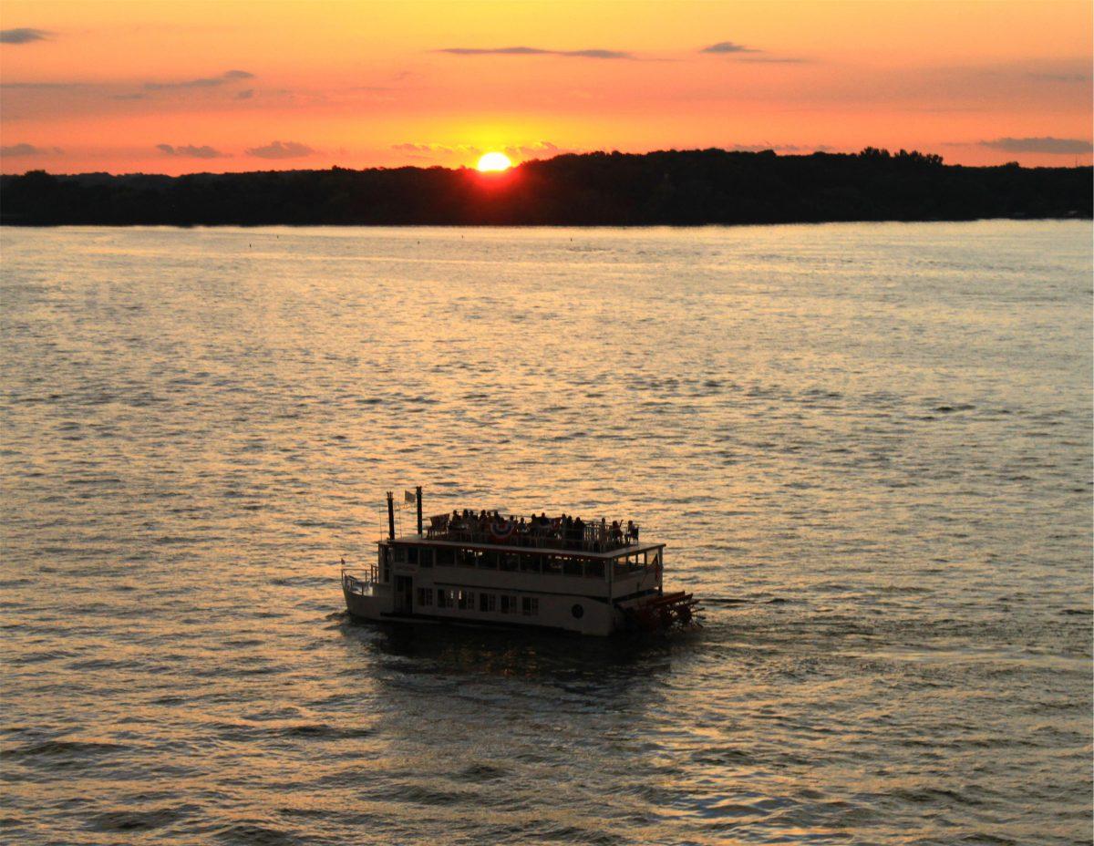 Lady of the Lake on Lake Minnetonka at sunset